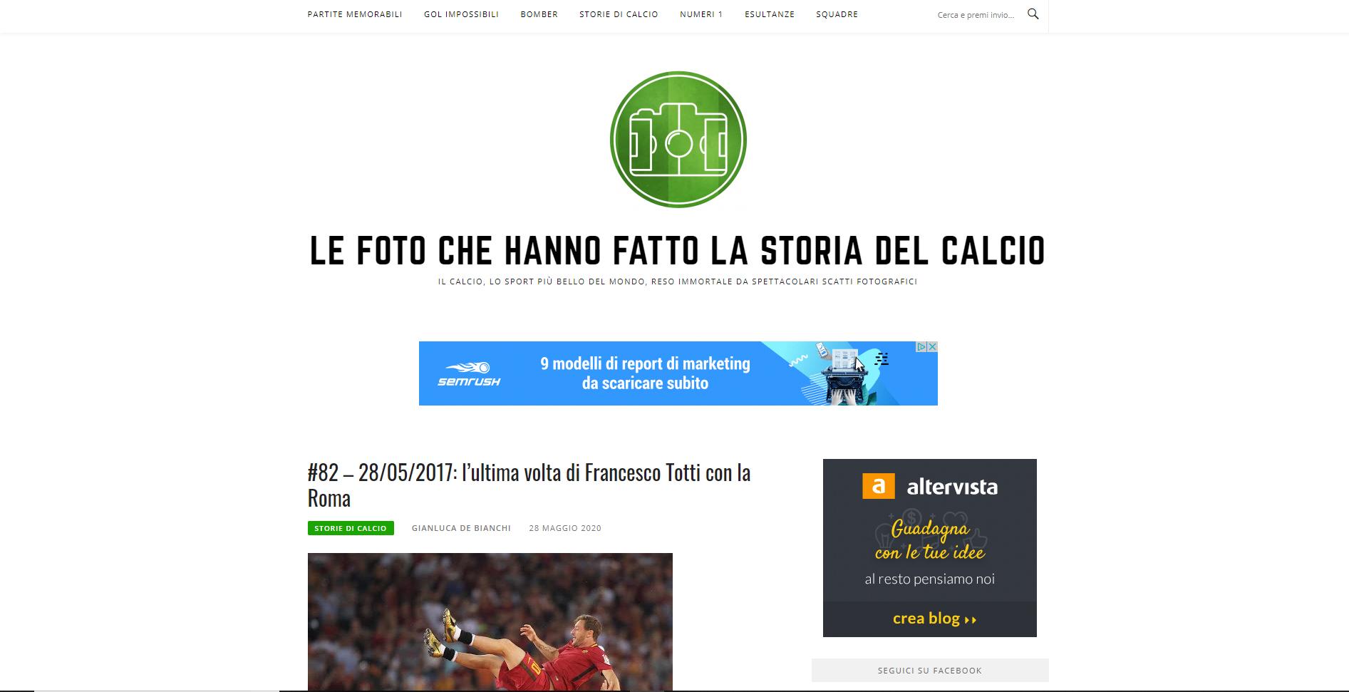 Le foto che hanno fatto la storia del calcio - Gianluca De Bianchi - Jeanzilla